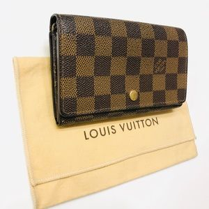 LOUIS VUITTON Damier Ebene Tresor Wallet w duster